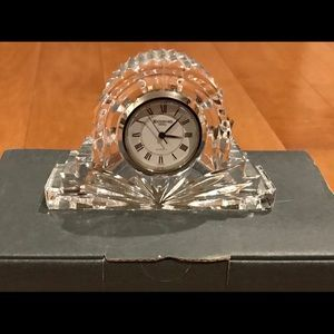 Waterford crystal cottage mantel clock